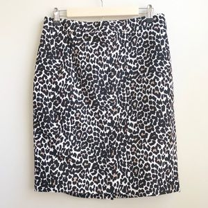 J. Crew Factory | Leopard Pencil Skirt